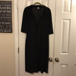 April U.S.A. Long Sheer Tie Front Dress CoverUp